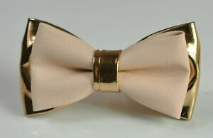 Pearl White Rose Gold Faux Leather Bow tie for Men / Youth Boy  / Toddler Baby