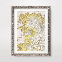 COUNTY MAYO IRELAND IRISH VINTAGE MAP ART PRINT Poster Home Decor Wall A4A3A2
