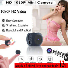 Wireless Spy Camera Tiny Hidden Audio Video 1080P Visione notturna 140°Wide DIY