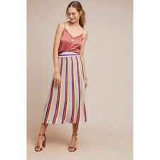 New Anthropologie Striped Shine Skirt by Laia $168 SMALL