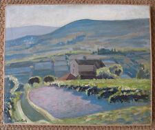 Louis Hache, vignes dans la Vallée de la Colle. Provence ? Couché de soleil