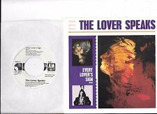 LOVER SPEAKS * 45 * Every Lover's Sign * 1986 * UNPLAYED MINT * DJ PROMO * w/ PS