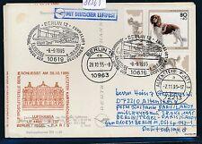 81565) LH FF Berlin - Paris 28.10.95, Karte EF 80PF Hunde dog