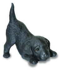 Black Labrador  Puppy Dog Ornament - Garden Figure - Statue - Pup Resin