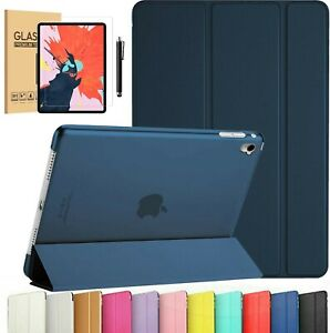 """iPad 10.2"""" 2020 Air 3 10.5"""" Slim Case Magnetic Smart Cover Stand With Temp Glass"""