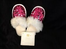 pottery barn teen sparkle sequin slippers red medium CHRISTMAS Princess