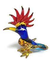 Miniature Woodpecker Glass Blown Animals Bird figurine Art glass dollhouse Decor