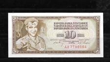 YUGOSLAVIA #82C 1968 UNC OLD 10 DINARA BANKNOTE BILL NOTE PAPER MONEY