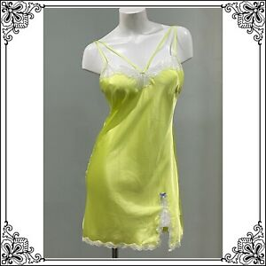 💕VICTORIA'S SECRET Chartreuse Lace & Satin Slip / NWT