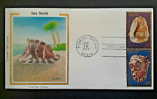 1984 Koror Palau Colorano Silk Cachet Sea Shells First Day Issue Cover