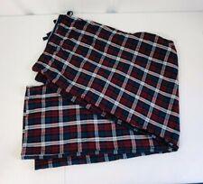 Hanes mens big woven pajama pant size 5xl (56-58) color red tartan