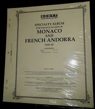 Scott Part 3 album pages for Monaco and French Andorra 1973-79