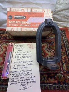 Vintage Craftsman Drill Press Mortising Chisel Housing Attachment & Bit Nice 👍