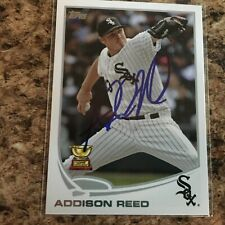 Addison Reed Signed 2013 Topps Autograph Chicago White Sox