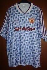 Maglia Shirt Maglietta Trikot Maillot Manchester United 90 91 Away Adidas Sharp