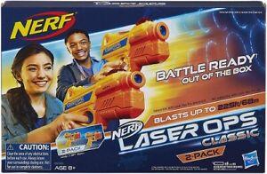 Nerf Laser Ops Classico Battaglia Pronto 2 Confezione Nuovissimo e Sigillato