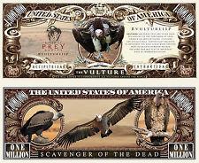 Vulture ~ Bird of Prey Million Dollar Bill Collectible Funny Money Novelty Note