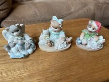 """Calico Kittens Lot Of 3 """"A Loving Gift� Figurines"""
