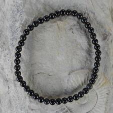 schwarzer Obsidian Kugelarmband 4 Mm / 18 Cm