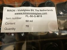 Miron Violet Jar Glass Bottle Herb Guard 50ml Quantity 70 No Tops New purple