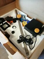 vintage photographic enlarger and easel