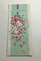 Vintage 1963 Greeting Card On Your Anniversary Wedding Bells  Great Art!