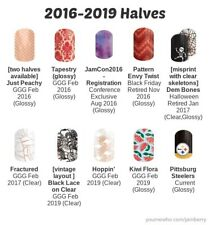 Jamberry Nail Wraps Retired 2017, 2018, 2019 half sheets