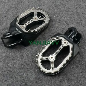 Black Foot Pegs Footrests For KTM 125 250 350 450 525 530 EXC-F EXC XC SX SX-F