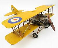 Blechflugzeug Modellflugzeug Doppeldecker Retro DEKO