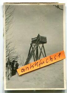 Foto : WH-Front-Beobachtungsturm vor dem Dorf Prischib / Ukraine im 2.WK