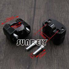 "HandleBar Fat Bar Risers Mount Adaptor Exchange 7/8""to1 1/8"" ATV Dirt Bike Black"