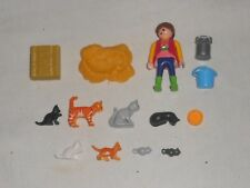 Playmobil Farm Lady with Cats and Kittens - Set 6139 VGC