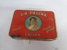 VINTAGE LA PALINA CIGAR TIN ADVERTISING COLLECTIBLE GRAPHICS COLORS 420