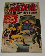 DAREDEVIL # 3 MARVEL COMICS 1964 SILVER AGE KEY ISSUE 1st The OWL JOE ORLANDO