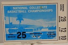 1972 National Collegiate Basketball Championship Ticket Stub UCLA 3/25/1972  A