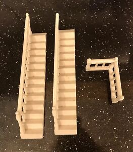 Dolls House Miniatures 1/12th Scale white Staircase banister & balustrade bundle