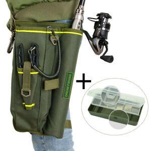 Fishing Tackle Rod Bag Waist Drop Leg Pack with Lure Box Outdoor Fishing Case