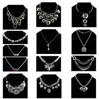 Fashion Charm Mixed Style Chain Crystal Choker Chunky Statement Bib Necklace