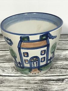 """M.A. Hadley Ceramic Planter with House 5"""" High 5 1/2 Wide"""