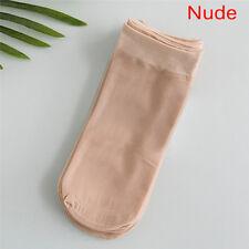 5Pairs Grils Nylon Elastic Short Ankle Sheer Stocking Silk Short Socks Purecolor