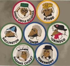 Wombles Set of 7 Vintage Patches Great Uncle Bulgaria Orinoco Bungo Etc Mid 70s