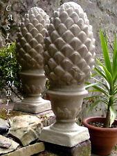 Zapfen, mediterraner Pinienzapfen aus Steinguss massiv 9,50KG 40cm Steinfigur