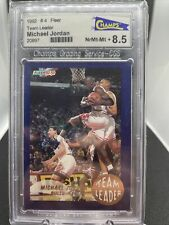 Michael Jordan Team Leader 1992-1993 Fleer #4 8.5 Grade Rare Bulls