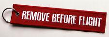REMOVE BEFORE FLIGHT Schlüsselanhänger XXL rot Keyring Schlüssel Anhänger 18x4cm