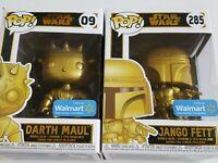 Funko POP! Disney Star Wars Darth Maul #09 & Jango Fett #285 Walmart Exclusive