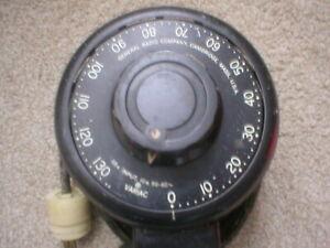 ANTIQUE VARIAC GENERAL RADIO CAMBRIDGE MASS FROM BENDIX ECLIPSE PIONEER DIVISION
