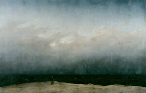 Caspar David Friedrich The Monk By The Sea Giclee Canvas Print Paintings Poster