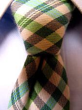 85767b8b2260 Mens Penguin Green White Silk Cotton Skinny Tie A3169