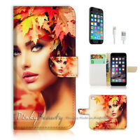 ( For iPhone 7 Plus ) Wallet Case Cover P1767 Beautiful Girl