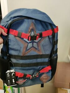 CAPTAIN AMERICA Falcon & Winter Soldier STAR Backpack by Biowolrd  w/Tags